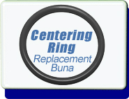 Centering Ring O-Ring BUNA, Replacement, KF-10 Vacuum Fittings, ISO-KF Flange Size NW-10 to 50