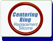 Centering Ring O-Ring Red Silicone, Replacement, KF-10 Vacuum Fittings, ISO-KF Flange Size NW-10 to 50