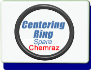 Chemraz Centering Ring O-Ring Replacement, Chemraz , Large flange LF NW ISO-63 ISO-80 ISO-100  Vacuum Fittings