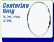 Centering Ring, NW-63 Vacuum Fittings, Stainless Steel, O-Ring not included