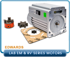 Edwards RV3 & RV5 Motor for Rotary Vane Vacuum Pumps. : Motor Shaft Coupling Kit for Edwards E2M30, E2M28