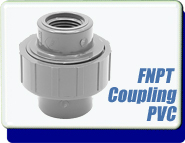 Adapter Plastic UNION, 1/2 in. ID FNPT to 1/2 in. ID FNPT, Polyvinyl Chloride PVC
