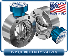 Ideal Seal, Conflat CF 2.75 in. Butterfly Valve, 1.00 Inch Thick, Manual Quarter-Turn, CF Interface, Stainless Steel