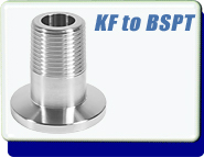 Adapter KF-10 to 1/4 Inch Male BSPT Tapered Short Stub