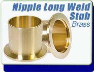 Half Nipple, Braze Stub Yellow Brass KF-16, Vacuum Fittings, 1/2 In. OD Tube, Size ISO NW-16 to NW-50