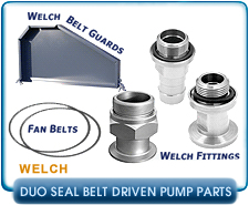 Welch Rubber feet for 1376, 1400, 1402, 1405, Belt Drive Pumps