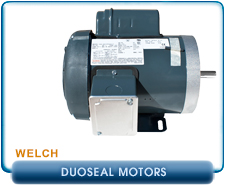 New Welch 1400 Vacuum Pump, Replacement Electric Motor, 1-Phase, 115/220 VAC, 4 Bolt Base