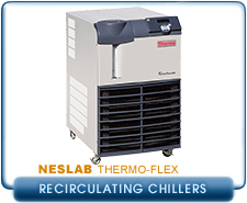 Thermo Scientific Neslab ThermoFlex 2500 Recirculating Chiller, Air or Water Cooled, 2500 Watts Cooling