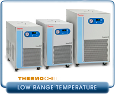 Thermo Scientific ThermoChill I,II, III Low Range Recirculating Chiller 700W, 1000W, 2000W Cooling, RS232 115V, 230, PD1, PD2, MD30