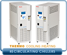 Thermo Scientific Polar Series Accel 250 LC, 500 LC or 500 LT, 115V, 250W Cooling/Heating Recirculating Chiller
