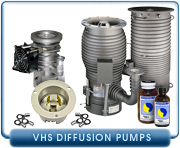 New Diffusion Vacuum Pumps - New Varian Diffusion Vacuum Pumps VHS-4, VHS-6, VHS-250, VHS-10, VHS-400 And Other New Varian Diffusion Pumps