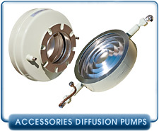 Rebuilt Diffusion Pumps Traps and Baffles - Rebuilt Varian Cold Traps and Water Baffles