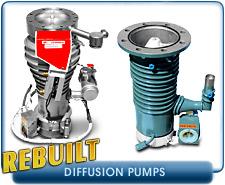 Rebuilt Diffusion Vacuum Pumps - Rebuilt Varian Diffusion Vacuum Pumps VHS-4, VHS-6, VHS10, VHS-250, VHS400 and Other Diffusion Pumps