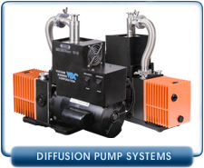 Integrated Diffusion Pump System, 150 l/s Diffusion Pump, Alcatel 2008A Vane Backing Pump