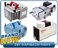 New Dry Diaphragm Vacuum Pumps - KNF Neuberger, Oerlikon Leybold,  Pfeiffer, Vacuubrand