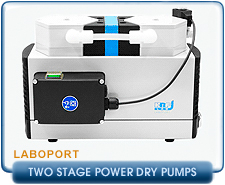 New KNF Neuberger Diaphragm Pumps - Two Stage PowerDry Laboport Series Pumps