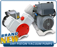 New Dry Piston Pumps - Leybold and Pfeiffer Dry Piston Vacuum Pumps