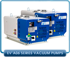 Ebara EV-A06 Air Cooled Dry Vacuum Pump 115VAC or 200-240VAC, 1-phase or 3-Phase, 22cfm, Gas Ballast Port.