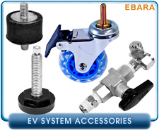Ebara EV-A03 and EV-A06 Dry Rotary Lobe Vacuum Pump Wheel, Nitrogen N2 Introduction Adapter, Ebara EV Power Cable