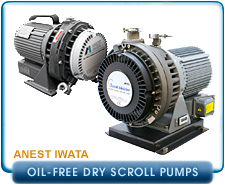 New Anest-Iwata Oil-Free Dry Scroll Pumps, ISP-250c and ISP-500c