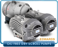 New Edwards Oil-Free Dry Scroll Pumps, XDS-5, XDS-5c, XDS-10, XDS-10c, XDS-35i, GVSP-12, GVSP-30