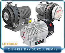 New Leybold Oil Free Dry Scroll Vacuum Pumps
