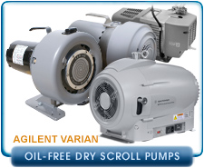 New Varian Oil-Free Dry Scroll Pumps, IDP-3, SH-110, Triscroll 300, Triscroll 600