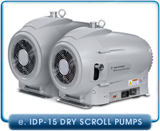 Agilent Varian IDP-15 Dry Scroll Vacuum Pump, 1-Phase. Integral Isolation Valve,