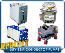 Rebuilt Dry Semicoductor Process Vacuum Pumps - Edwards DP, QDP, And iQDP Vacuum Pumps