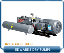 Edwards Drystar GV80 SSP Dry Pump and Silencer, 54 CFM, 230/460V 3-Phase. PN: NR8031000