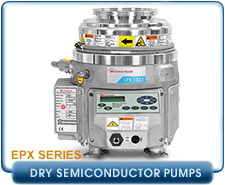 New Edwards Dry Semiconductor Process EPX Vacuum Pumps - Edwards EPX180L, EPX180LE, EPX180N, EPX180NE, EPX500L, EPX500LE, EPX500N, EPX500NE