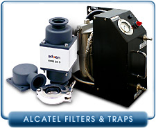 Alcatel Filters and Traps - For Oil Mist Filtration and Foreline Inlet Traps of Alcatel Vacuum Pumps