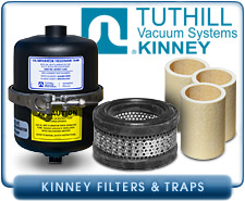 Kinney Filters and Traps for Kinney Vacuum Pumps