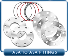 ASA Flange, 4 Inch, Bored Flat Weld On Vacuum Flange, No O-Ring Groove, Stainless Steel