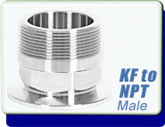ISO KF to Male NPT Adapter Fittings