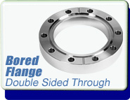 Conflat Flange (CF) Bored Double-Sided, CF 1-1/3 inches, Bored 0.75 inch, Through Holes, SS