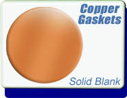 Solid Blank Conflat Flange (CF) Copper Gaskets CF Size 1.33 to 4.5 inch - OD 0.838