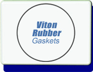 Conflat Flange (CF) Viton Rubber Elastomer Gasket, Flange Size 1.33 to 10 inches, OD 0.838 inch, 1 each