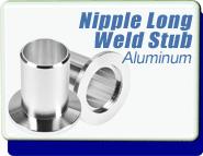 Half Nipple Long Weld Stub 1/2 inch OD KF-16 Vacuum Fittings, ISO-KF Flange Size NW-16, Aluminum