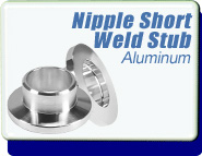 Half Nipple Short Weld Stub 1/2 to 2 inches OD KF-16 Vacuum Fittings, ISO-KF Flange Size NW-16 to 50, Aluminum
