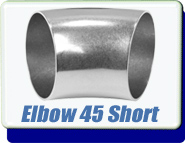 Buttweld 45 Degree Elbow Weld-On 0.50 up to 4 Inches OD Tube Vacuum Fittings Unpolished