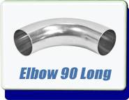 Buttweld 90 Degree Elbow Weld-On 0.75 up to 5 Inches OD Tube Vacuum Fittings Tumbled Unpolished With Tangents