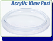 Acrylic View Port Blank for ISO-63, ISO-80, ISO-100, ISO-160, ISO-200 Flange, For Use With i-Chamber Vacuum Research Systems