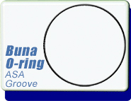 ASA 1.5, 2, 3 inches O-Ring replacement, for grooved ASA surface to non grooved ASA flanges BUNA