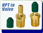 NPT to 1/4 Inch Air Valve Stem Freedthrough, Used to Add Positive Air Pressure to Test Vacuum Lines