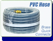 Quick-Connect Vacuum Fex-Hose, Flexible PVC Material, Low Vacuum Down To 1 Torr, 100 Ft Long