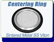 Filter-Max Centering Ring with Sintered Metal Filter DN16 ISO-KF-10 to KF-50, For Maximum Vacuum Protection