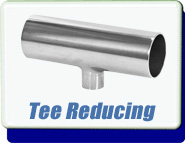 Buttweld 3-Way Reducing Tee Weld-On 0.5 to 1.0 up to 4 to 6 Inches OD Tube Vacuum Fittings