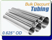 Stainless Steel Vacuum Tubing, 0.625 in. OD x 0.065, Polished, KF16 CF1-1/3, Sold Per Ft
