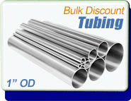 Stainless Steel Vacuum Tubing, 1.0 in. OD x 0.065, Polished, KF25 CF 2-1/8, Sold Per Ft